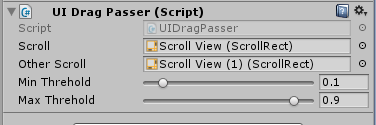UGUI nest ScrollView drag event passer