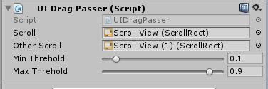UGUI nest ScrollView drag event passer