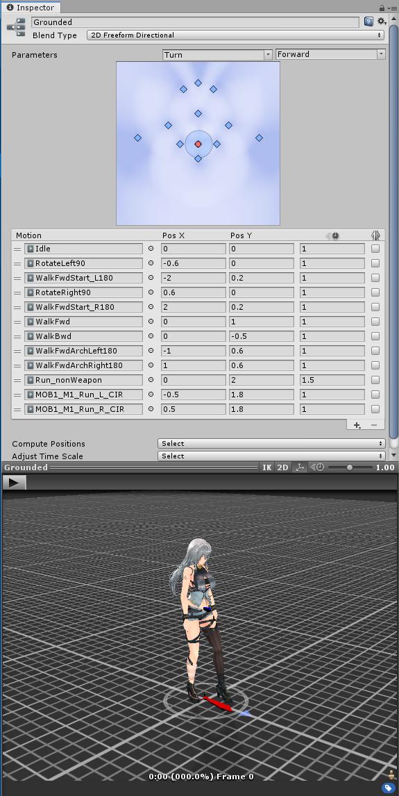 我的人形控制開發筆記(一) Locomotion