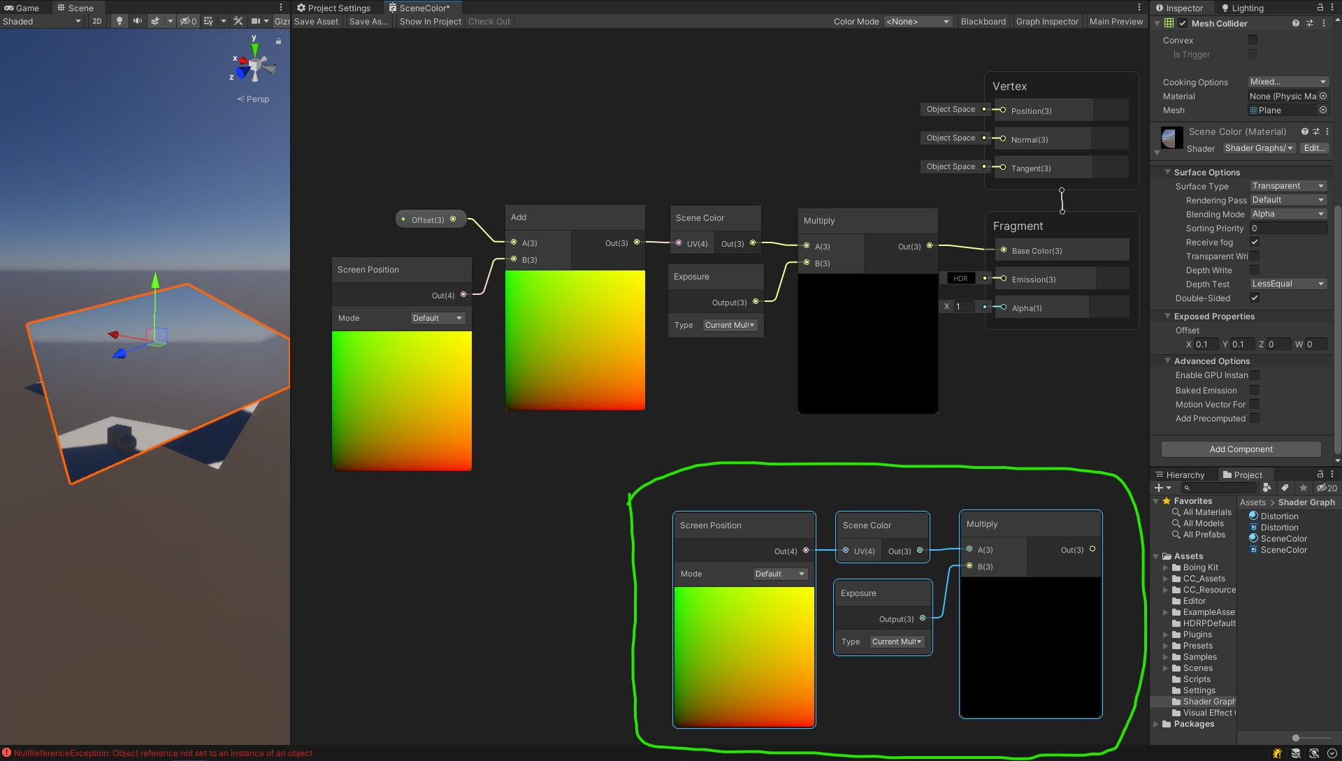 solve Unity3d Scene Color not work in HDRP/URP